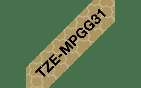 Eredeti Brother TZe-MPGG31 szalag – Arany mintás alapon feket 1ab5ea4fd9
