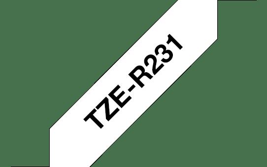 Eredeti Brother TZe-R231 selyem szalag – Fehér alapon fekete 47d348643e
