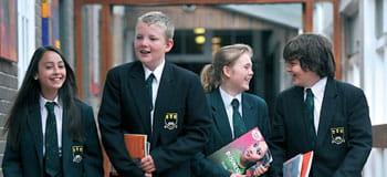 Helsby High School children walking Brother