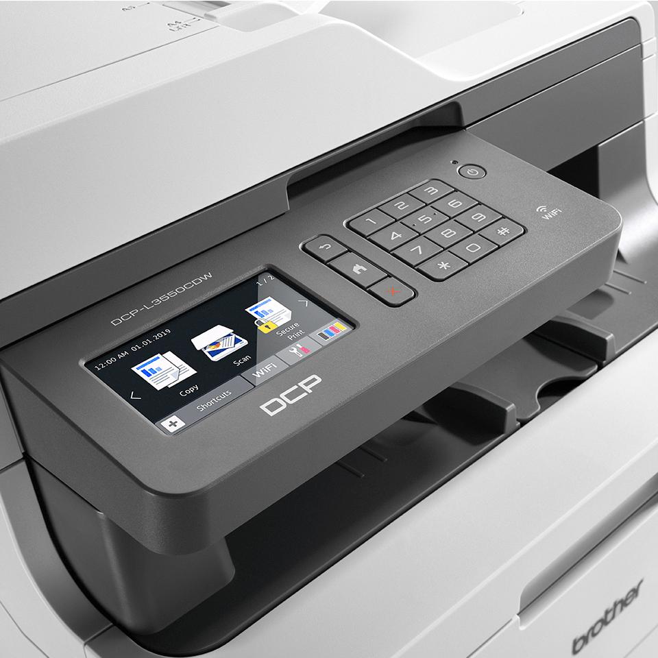 DCP-L3550CDW színes LED 3-az-1-ben multifunkciós készülék, Wireless csatlakozással. 4