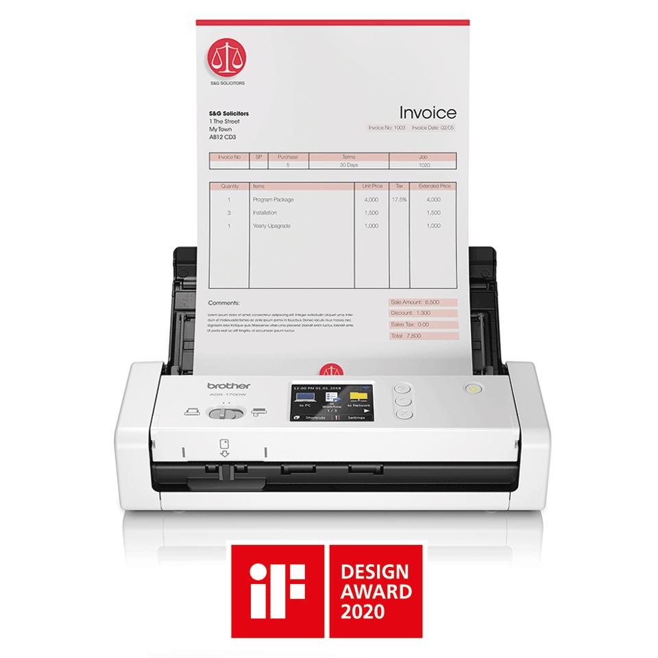 ADS-1700W kompakt dokumentum szkenner 4