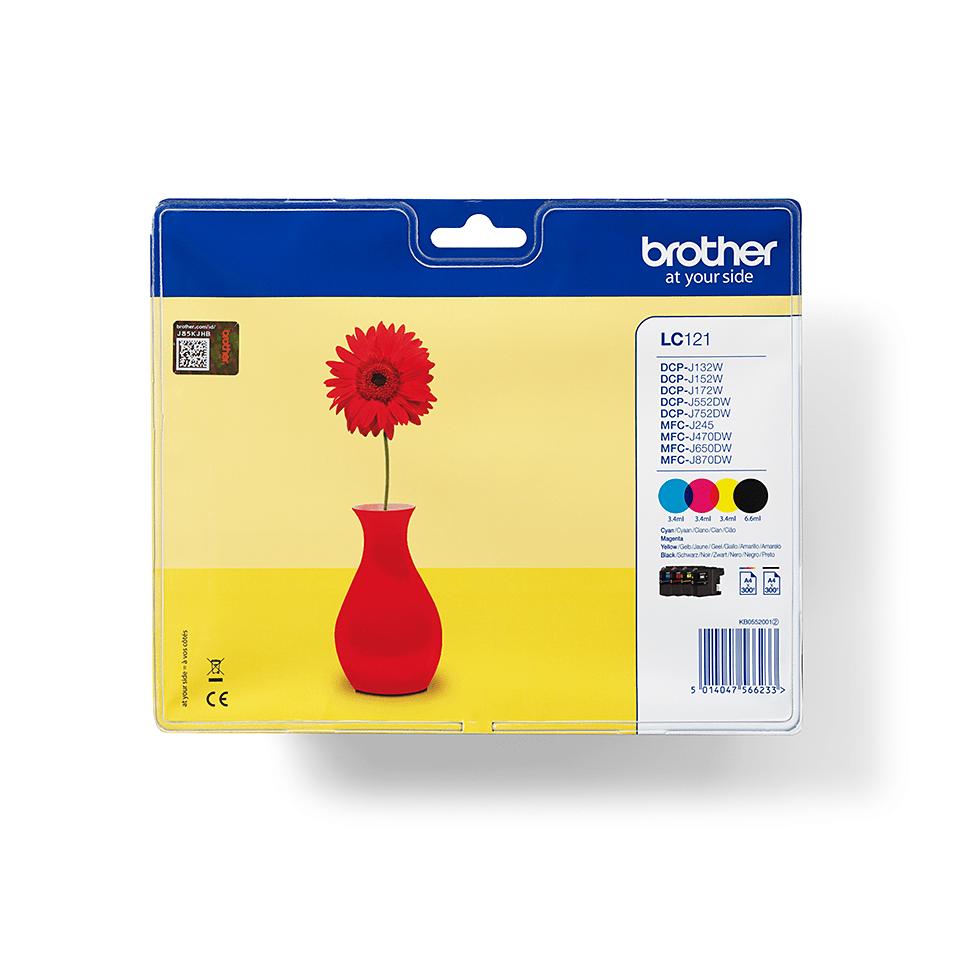 Eredeti Brother LC121VALBP tintapatronok multipack csomagolásban