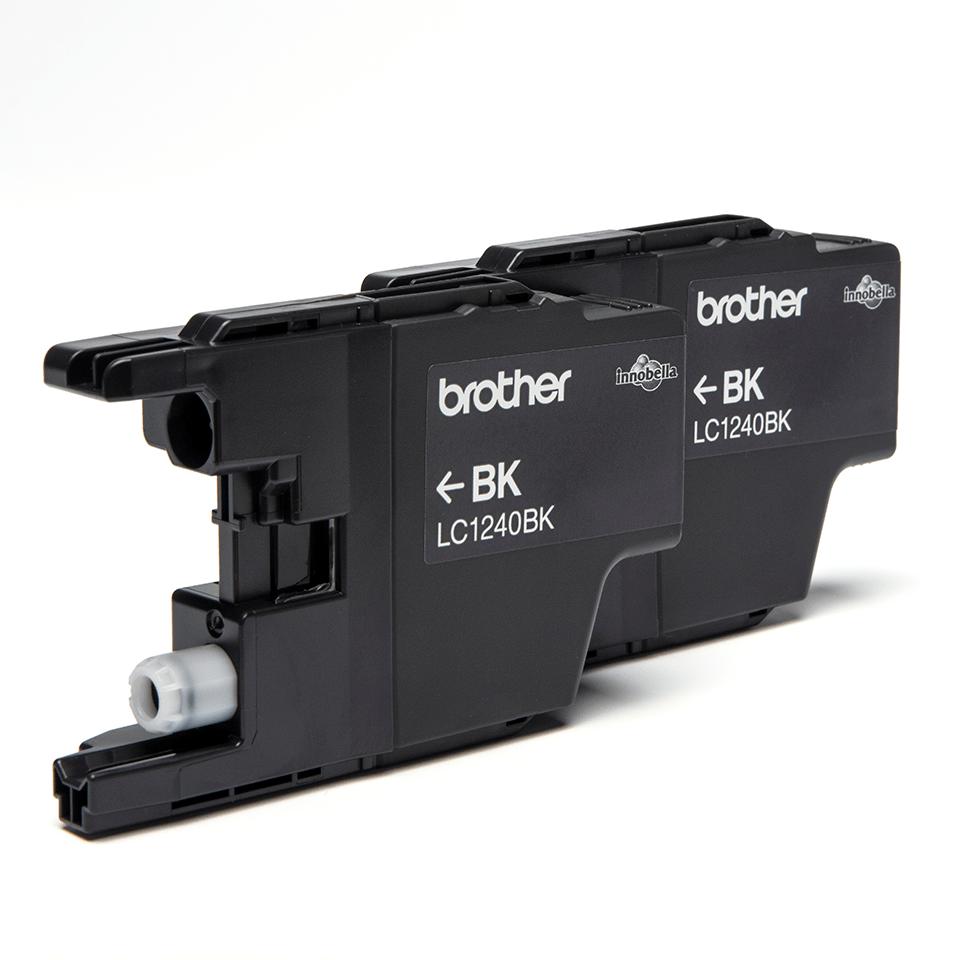Eredeti Brother LC1240BKBP2 fekete tintapatron (dupla) bliszter csomagolásban 2