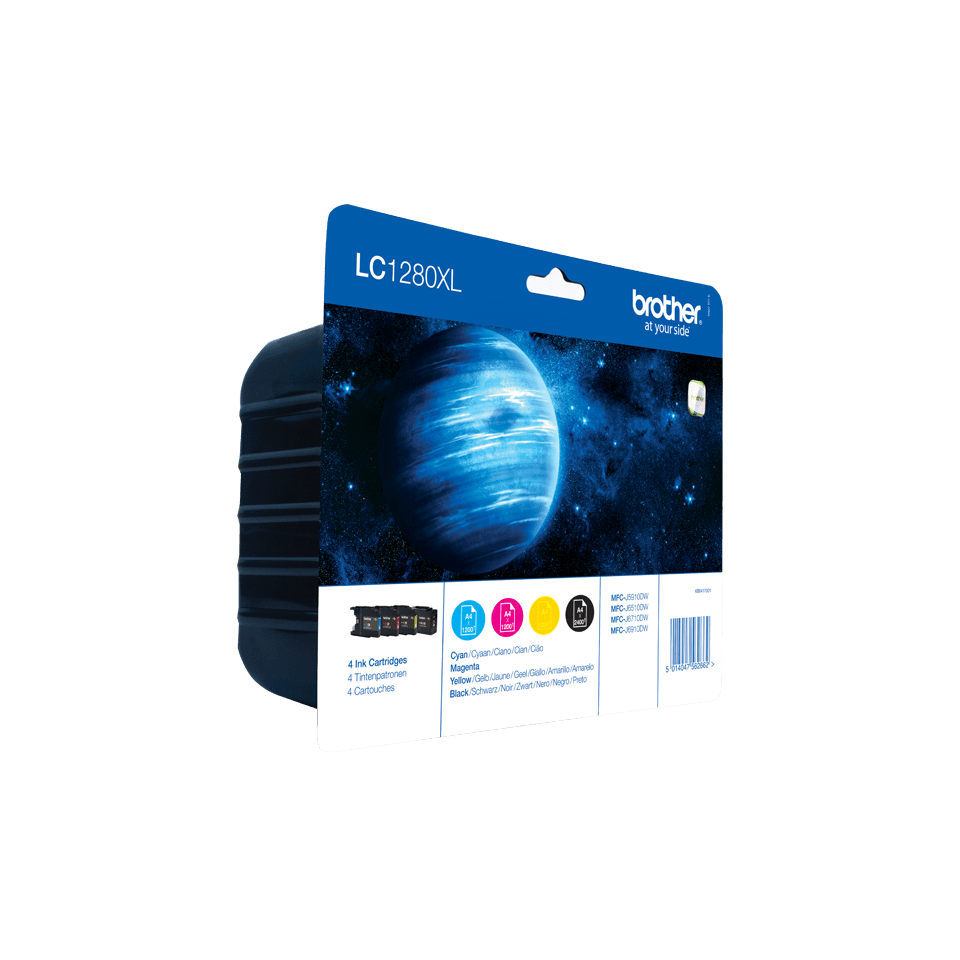 Eredeti Brother LC1280XLVALBP nagytöltetű tintapatron - multipack csomag 2