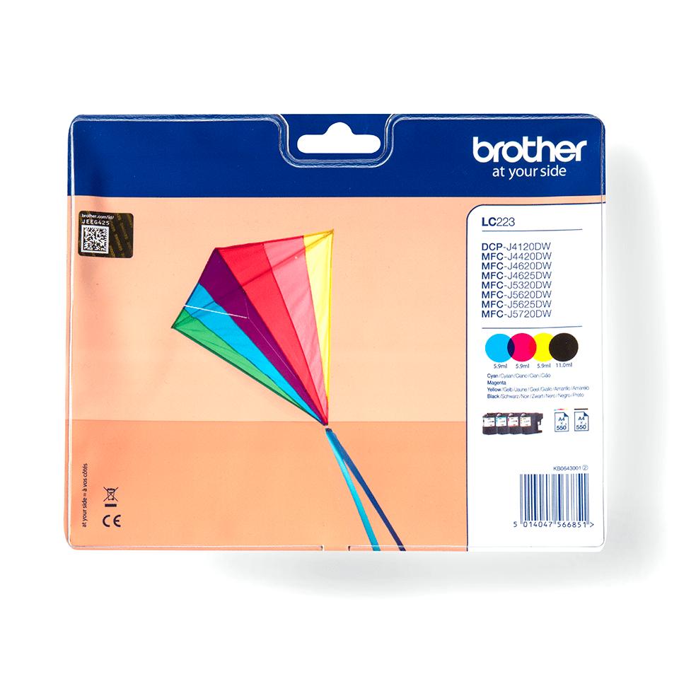 Eredeti Brother LC223VALBP tintapatron -  multipack csomag