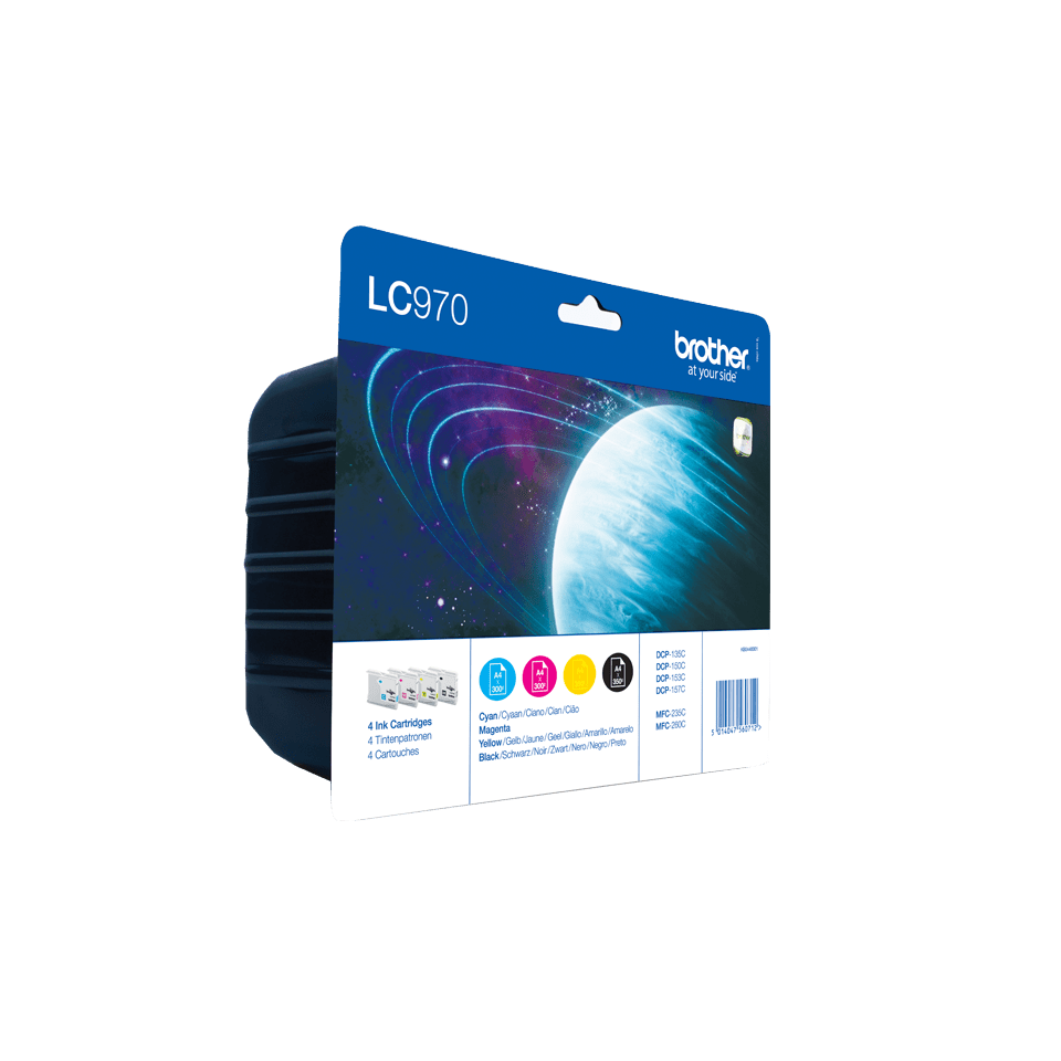 Eredeti Brother LC970VALBP tintapatron - multipack csomag. 2