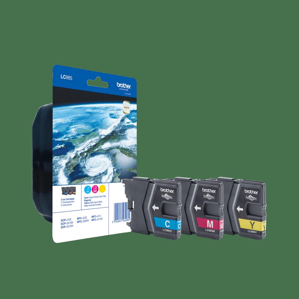 Eredeti Brother LC985RBWBP színes tintapatron csomag gazdaságos kiszerelésben.