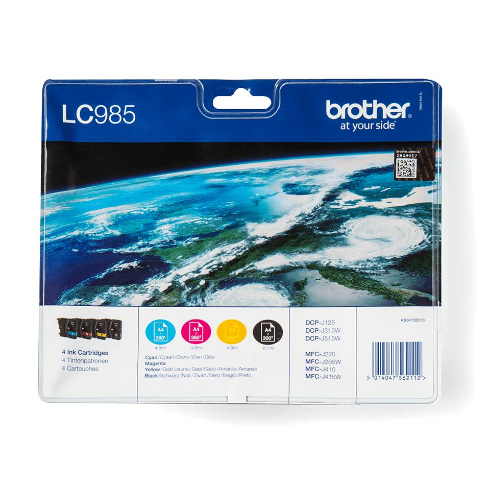 Eredeti Brother LC985VALBP tintapatron - multipack csomag