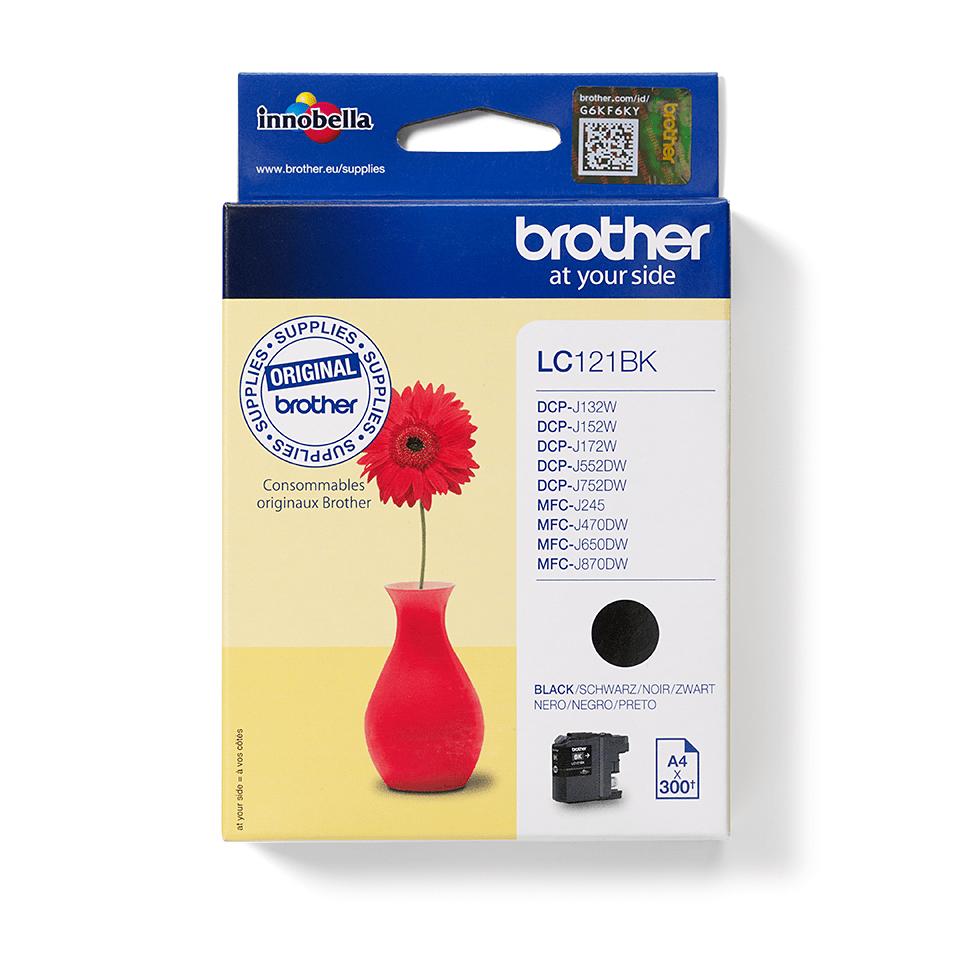 Eredeti Brother LC121BK tintapatron – Fekete