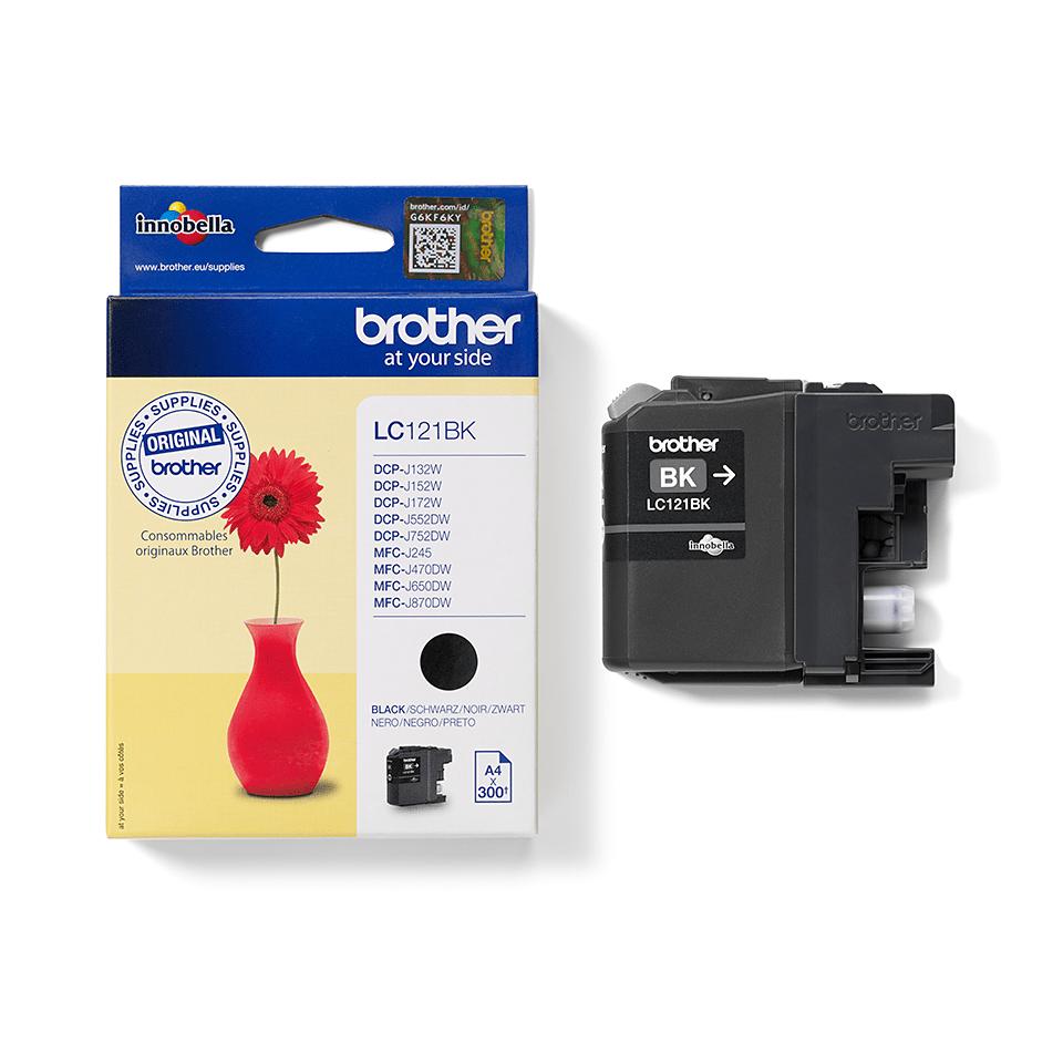 Eredeti Brother LC121BK tintapatron – Fekete 2