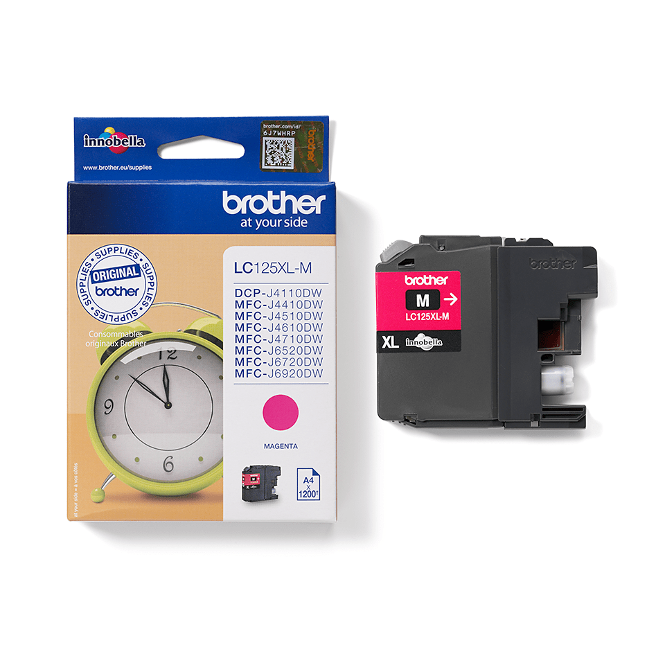 Genuine Brother LC125XLM Ink Cartridge – Magenta 2