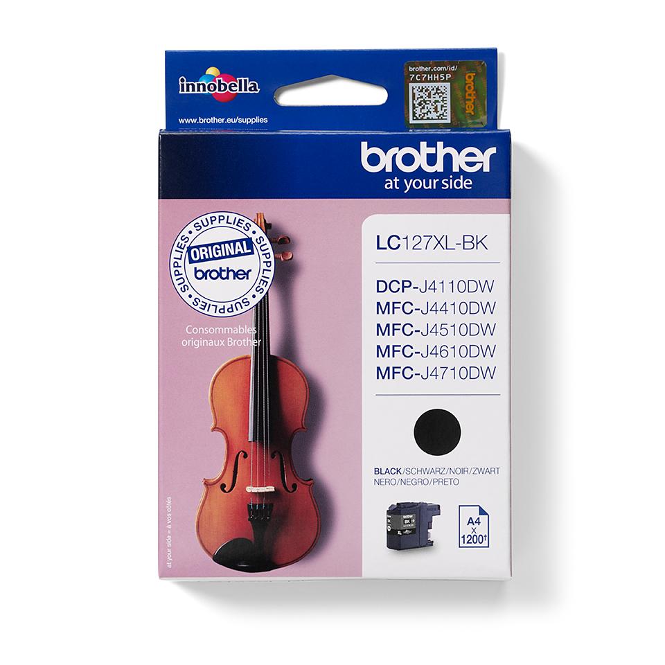 Eredeti Brother LC127XLBK nagytöltetű tintapatron – Fekete