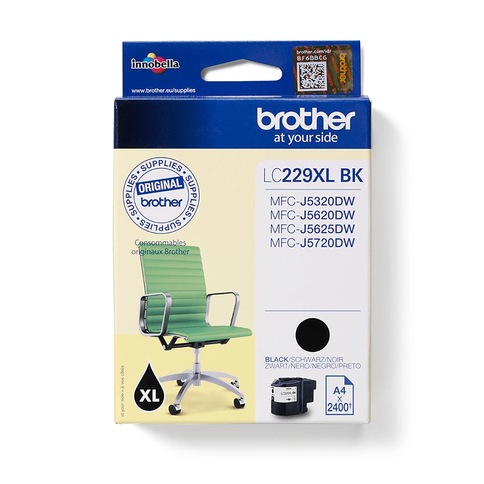 Eredeti Brother LC229XLBK extra nagytöltetű tintapatron – Black 2