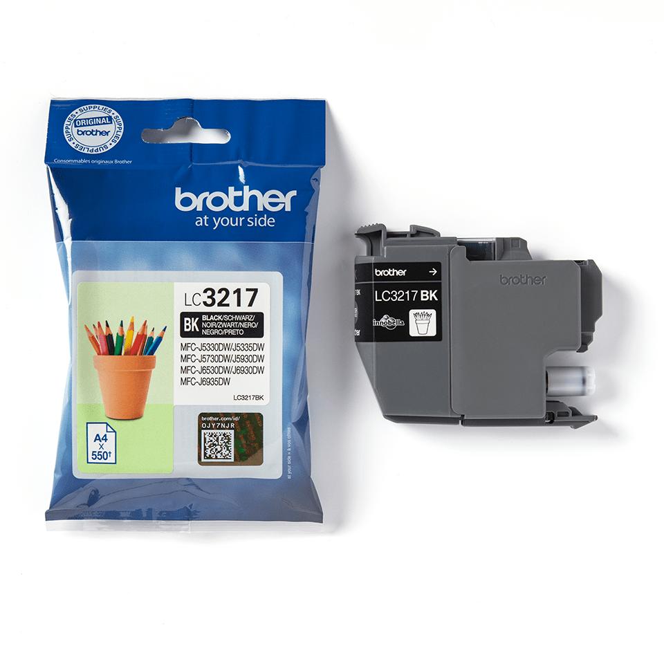 Eredeti Brother LC3217BK tintapatron – fekete 3