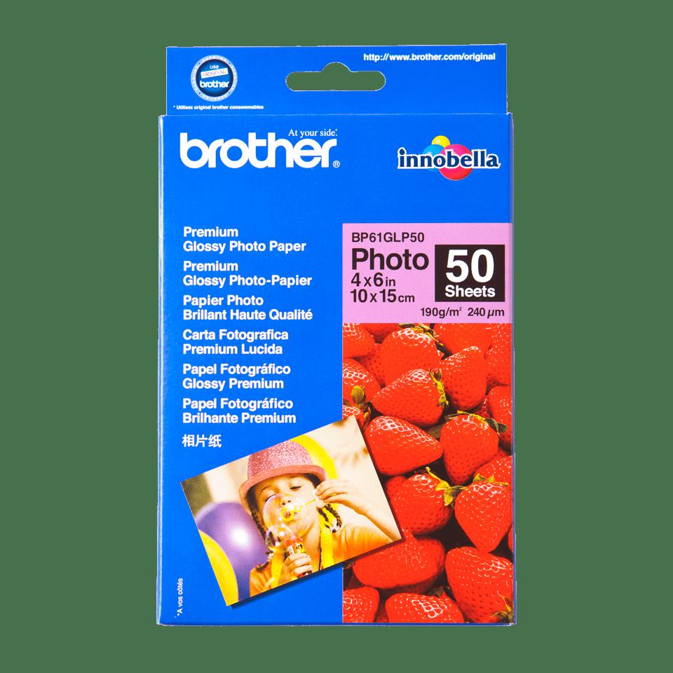 Eredeti Brother BP61GLP50 10 cm x 15 cm méretű fényes fotópapír.