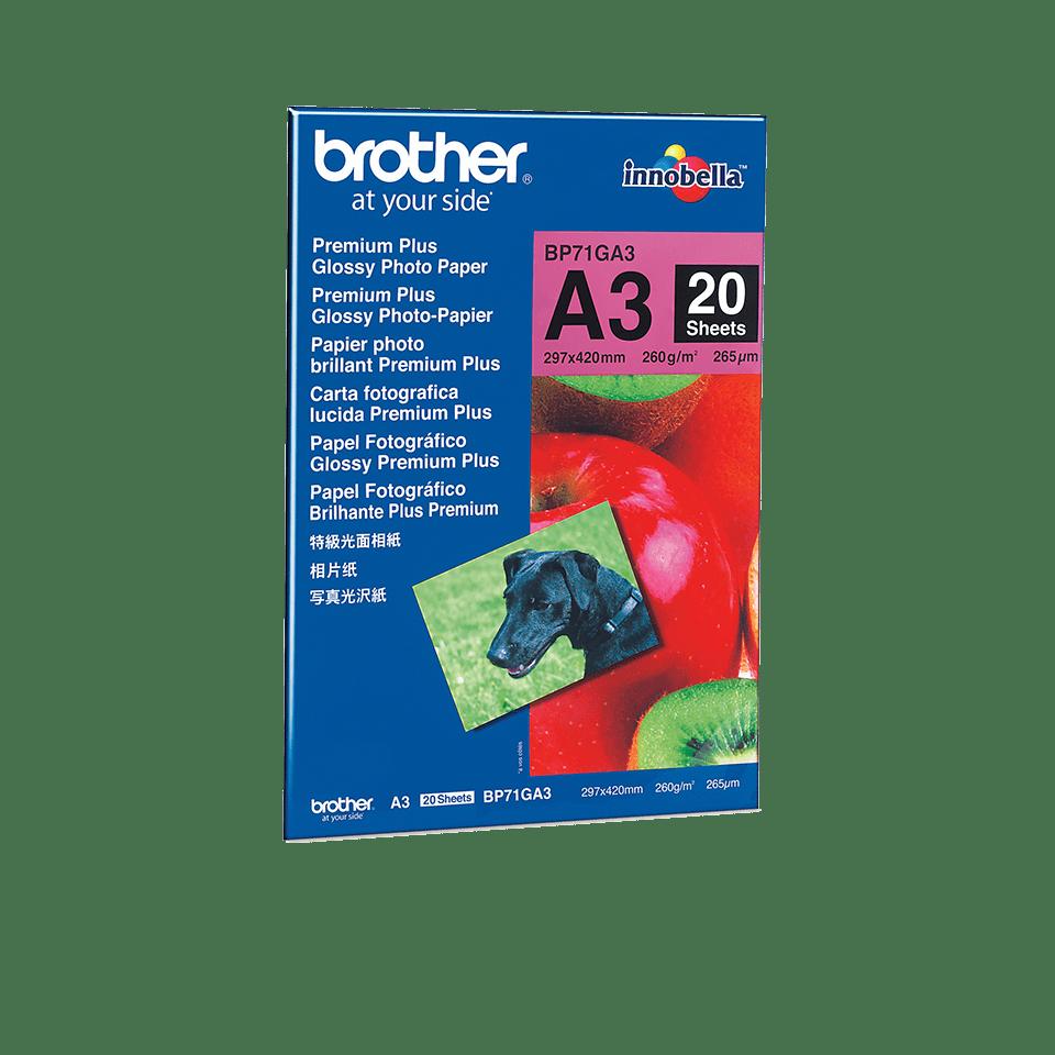 Eredeti Brother BP71GA3 A3-as fényes fotópapír
