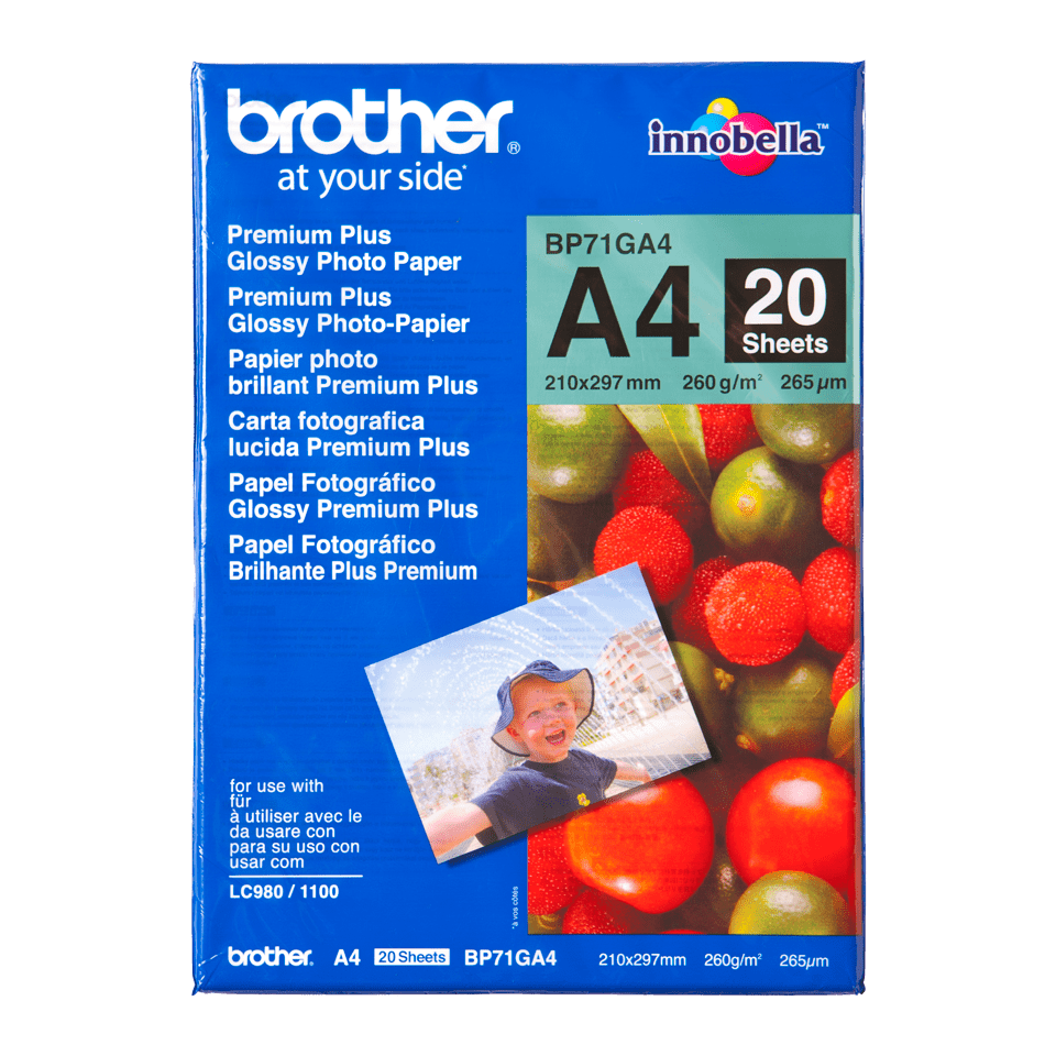 Eredeti Brother BP71GA4 A4-es fényes fotópapír