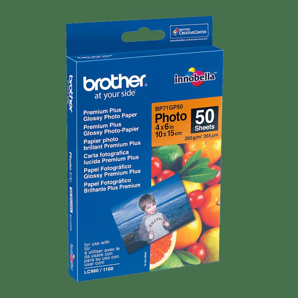 Eredeti Brother BP71GP50 10 cm x 15 cm méretű fényes fotópapír