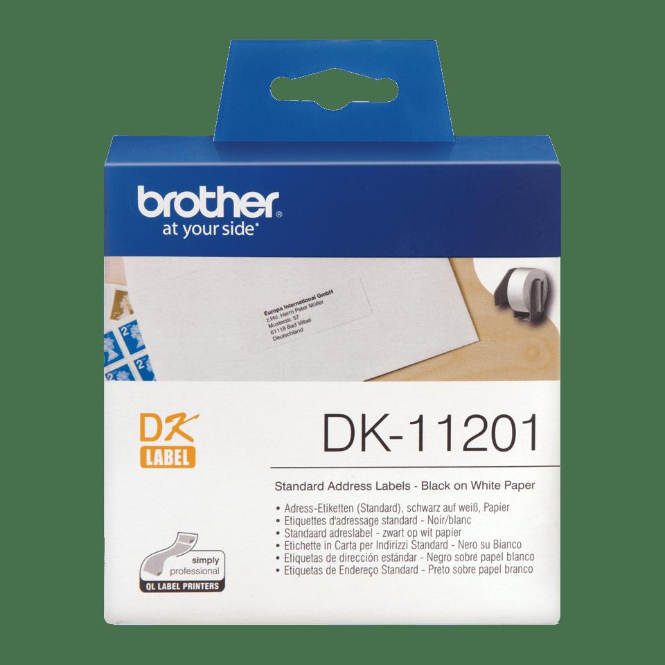 Eredeti Brother DK-11201 szalag tekercsben – Fehér alapon fekete, 29mm x 90mm