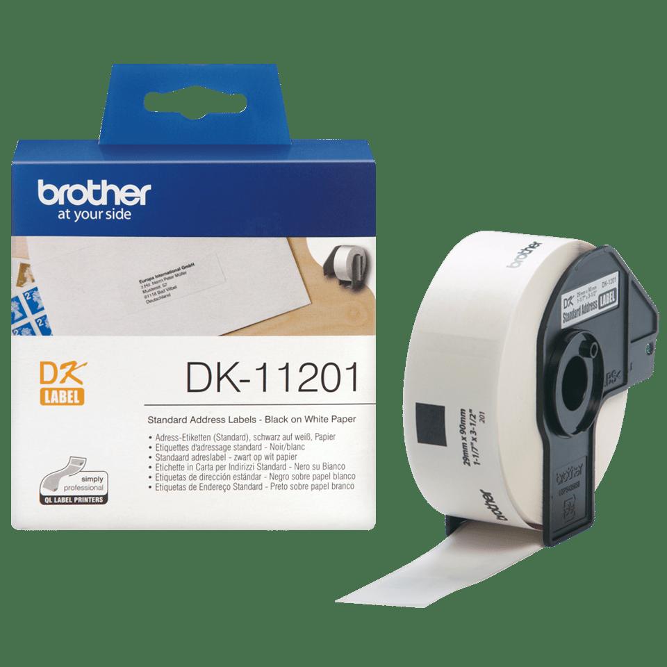 Eredeti Brother DK-11201 szalag tekercsben – Fehér alapon fekete, 29mm x 90mm 3