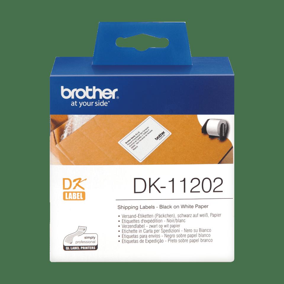 Eredeti Brother DK-11202 szalag tekercsben – Fehér alapon fekete, 62mm x 100mm