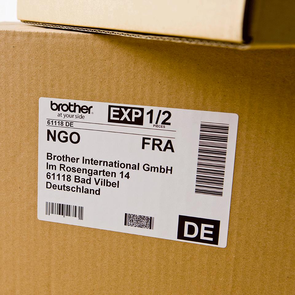 Eredeti Brother DK-11202 szalag tekercsben – Fehér alapon fekete, 62mm x 100mm 2