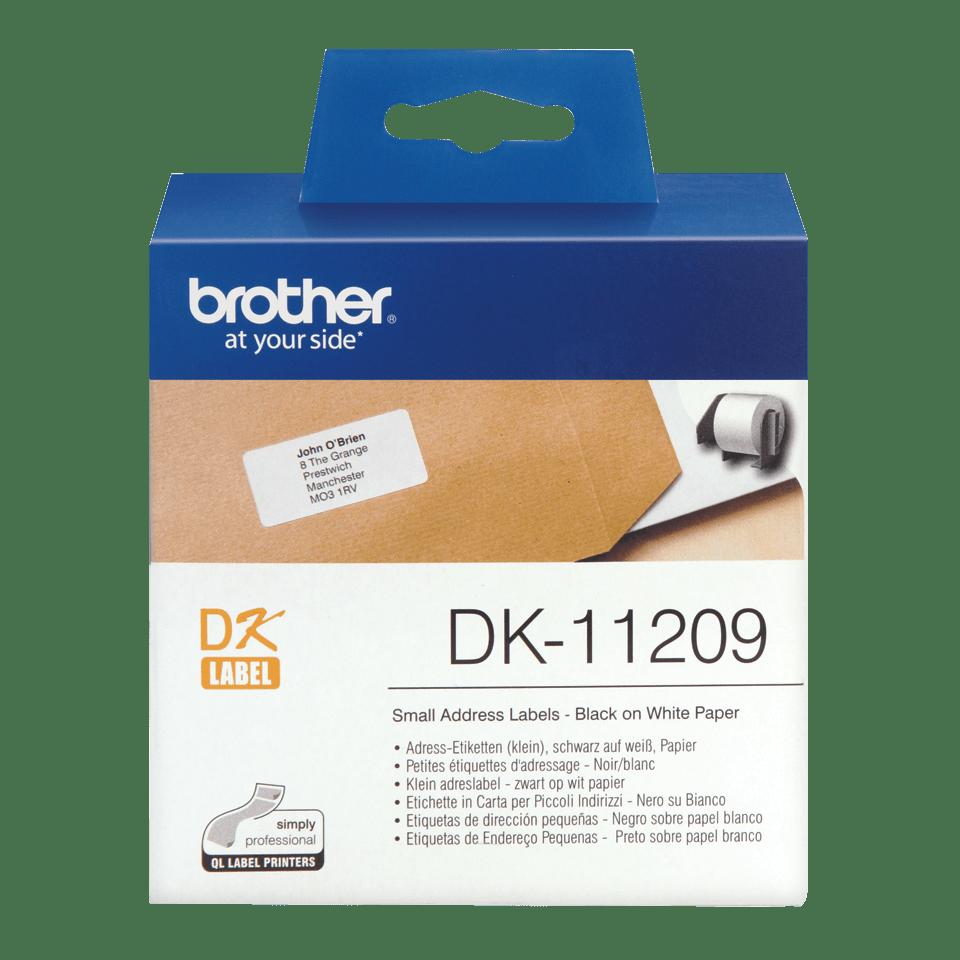 Eredeti Brother DK-11209 szalag tekercsben – Fehér alapon fekete,  29mm x 62mm