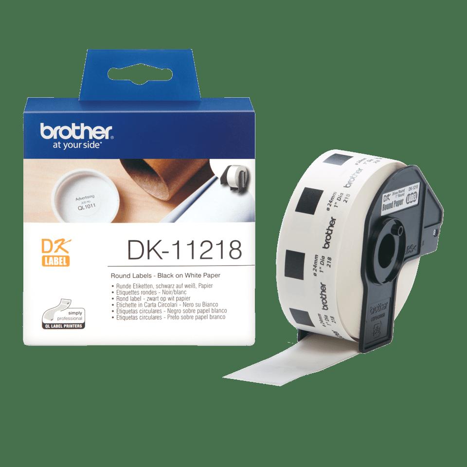 Eredeti Brother DK-11218 szalag tekercsben –  Fehér alapon fekete, 24mm x 90mm 3