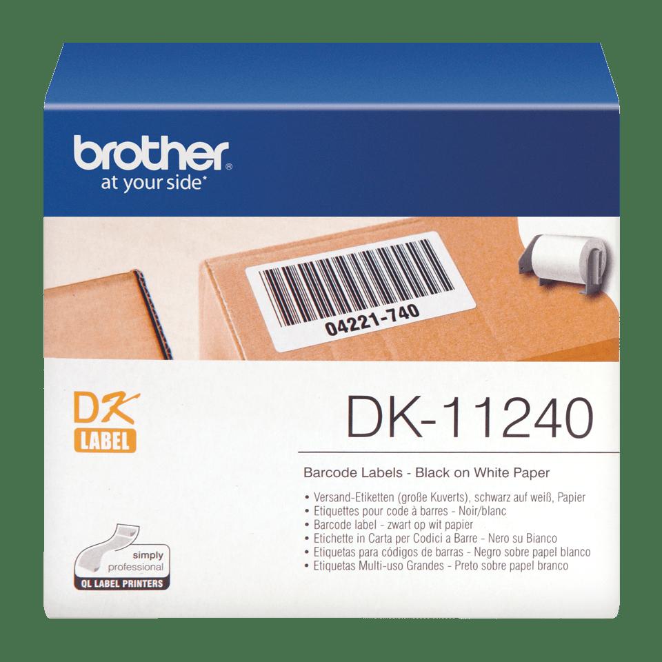 Eredeti Brother DK-11240 szalag tekercsben – fehér alapon fekete, 102mm x 51mm
