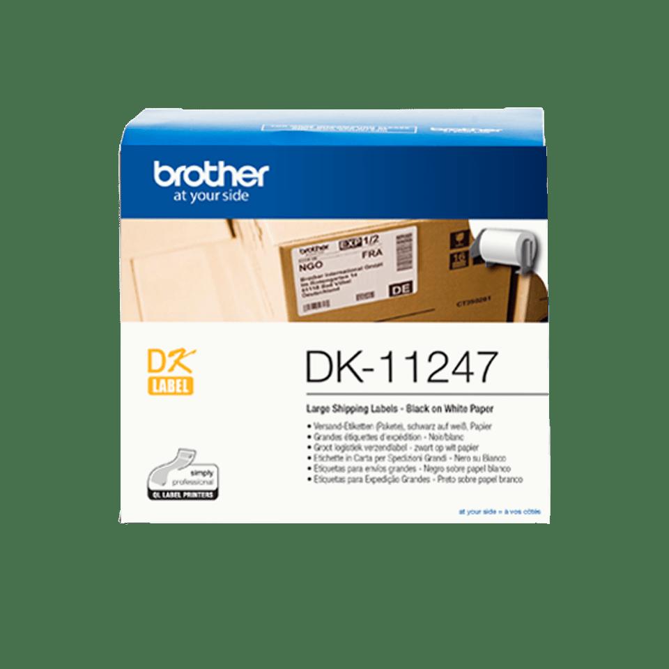 Eredeti Brother DK-11247 címketekercs – – Fehér alapon fekete, 103mm x 164mm