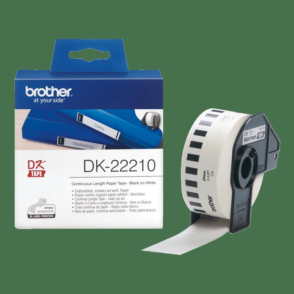 Eredeti Brother DK-22210 szalag tekercsben – Fehér alapon fekete, 29mm széles 3