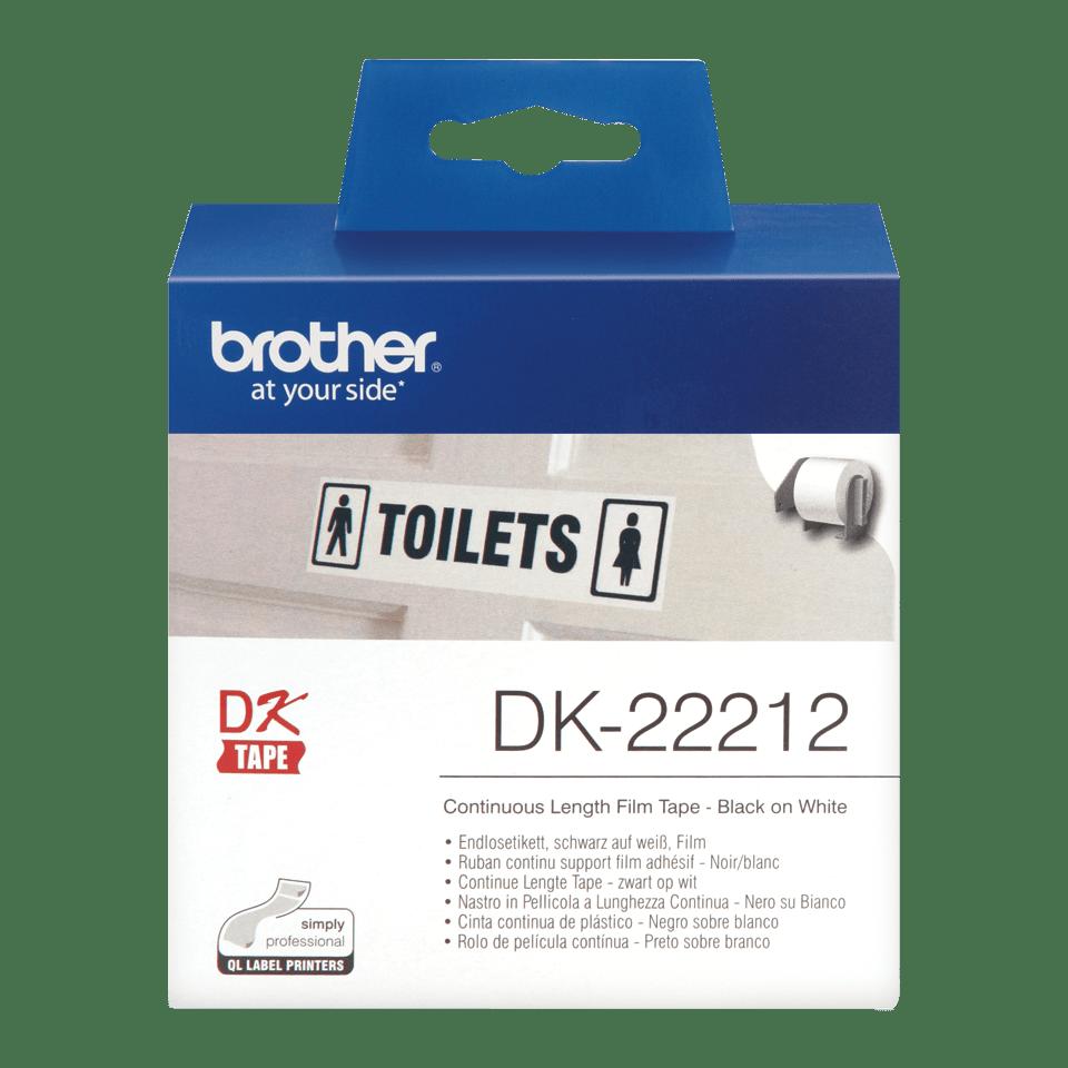 Eredeti  Brother DK-22212 folytonos szalag tekercsben – Fehér alapon fekete, 62mm