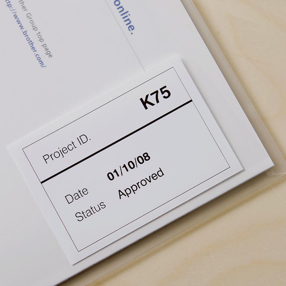 Eredeti  Brother DK-22212 folytonos szalag tekercsben – Fehér alapon fekete, 62mm 2