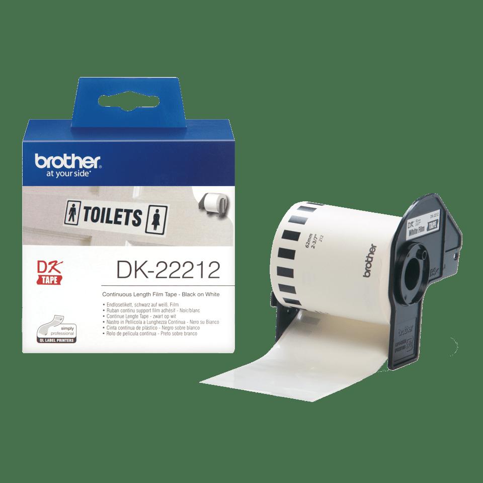 Eredeti  Brother DK-22212 folytonos szalag tekercsben – Fehér alapon fekete, 62mm 3