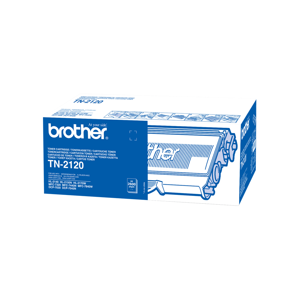 Genuine Brother TN-2120 High Yield Toner Cartridge – Black