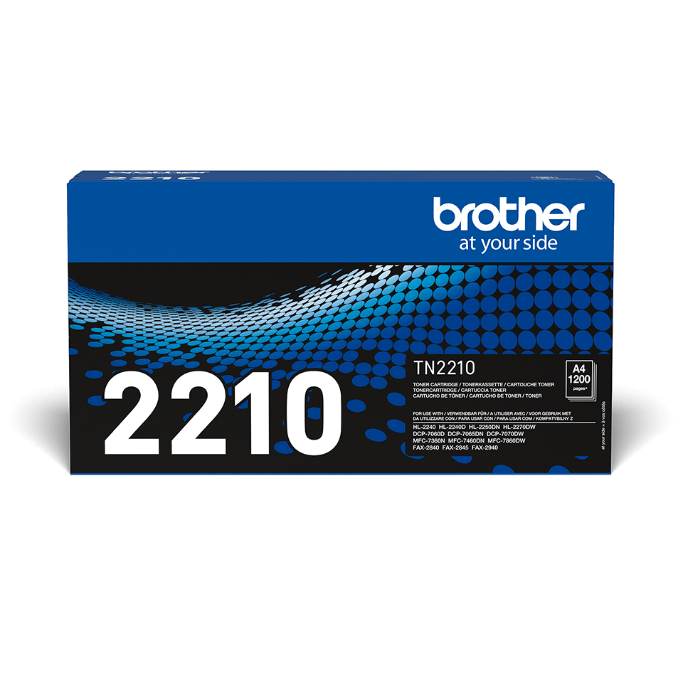 Eredeti Brother TN-2210 tonerkazetta – Fekete 2