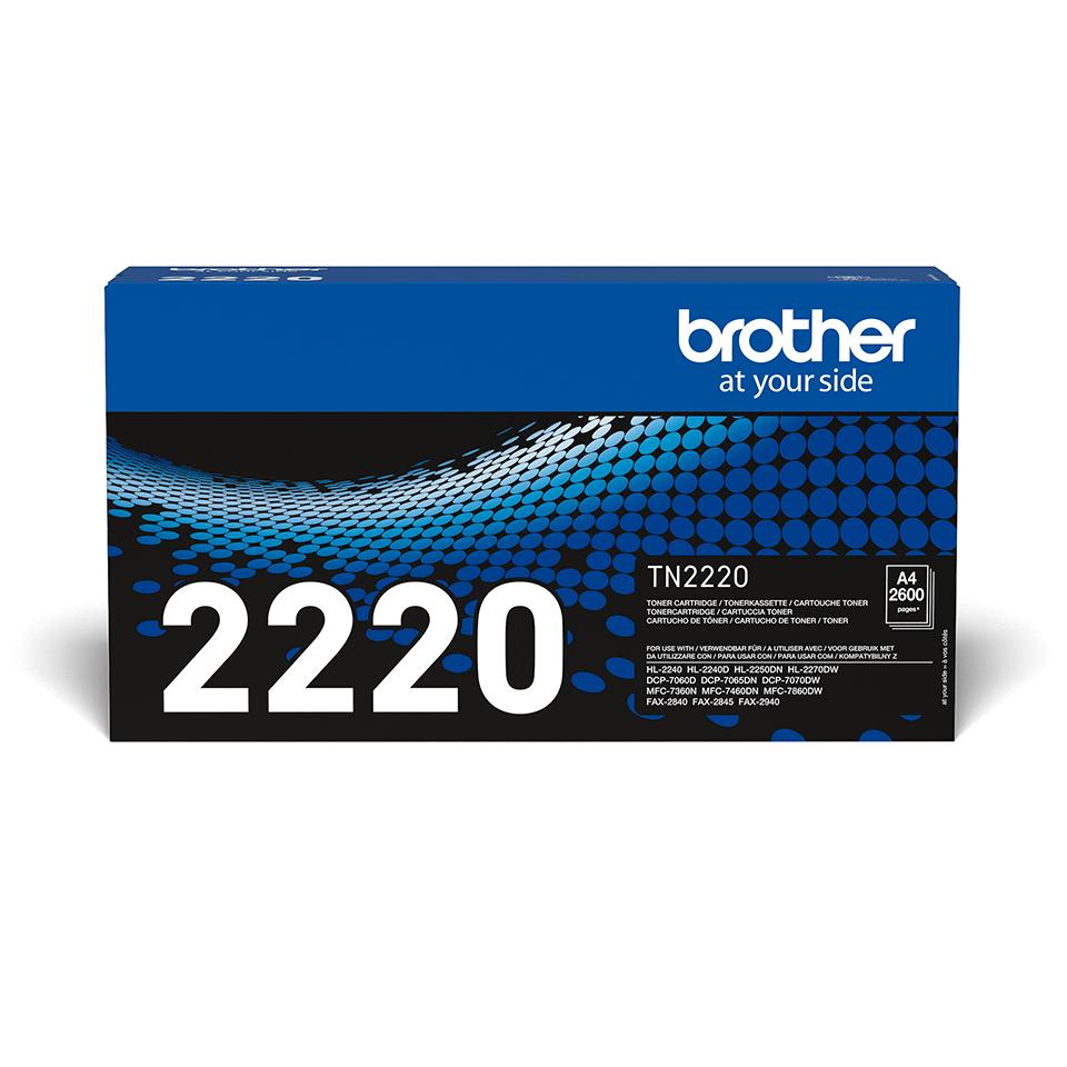 Eredeti Brother TN-2220 nagytöltetű tonerkazetta – Fekete  2