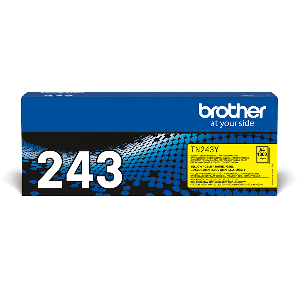Genuine Brother TN-243Y Toner Cartridge - Yellow 2