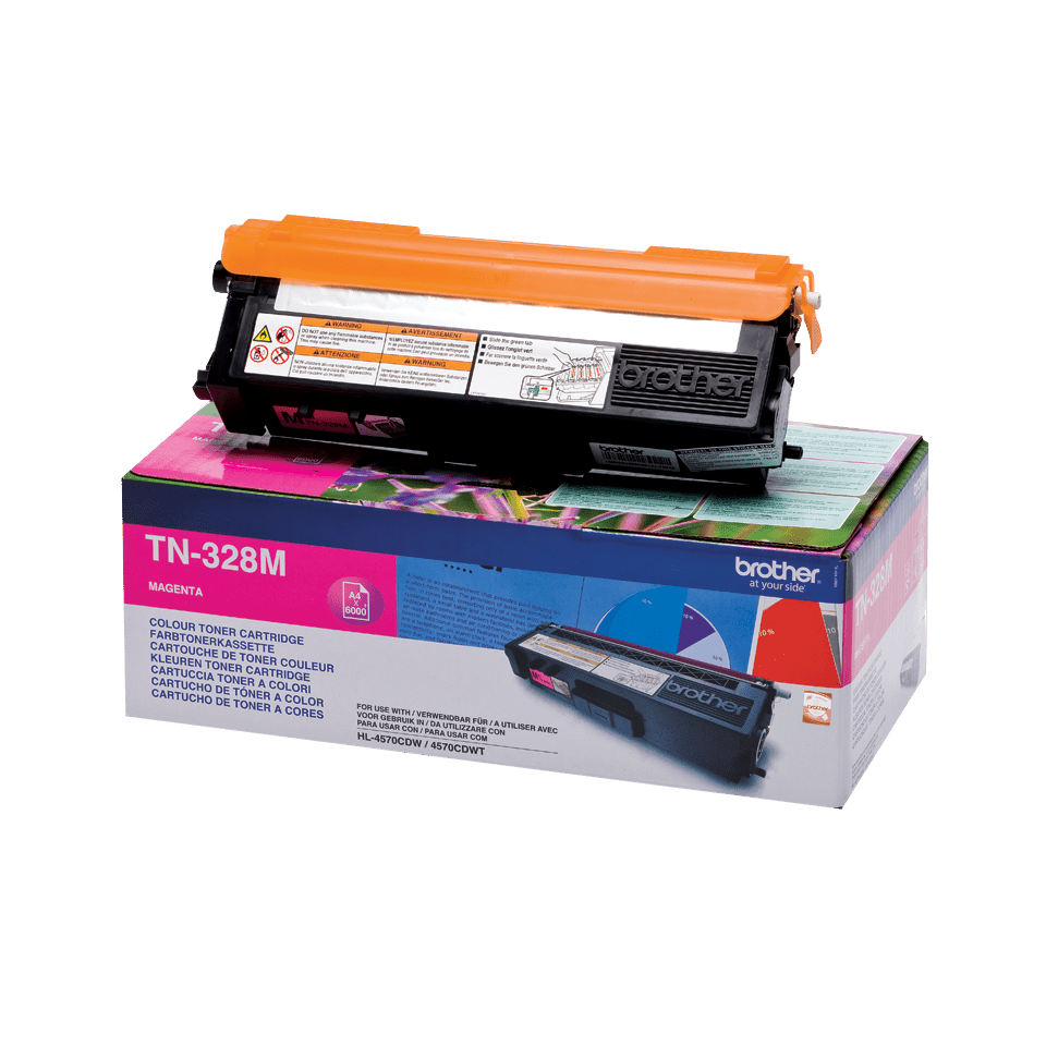 Genuine Brother TN-328M Toner Cartridge – Magenta
