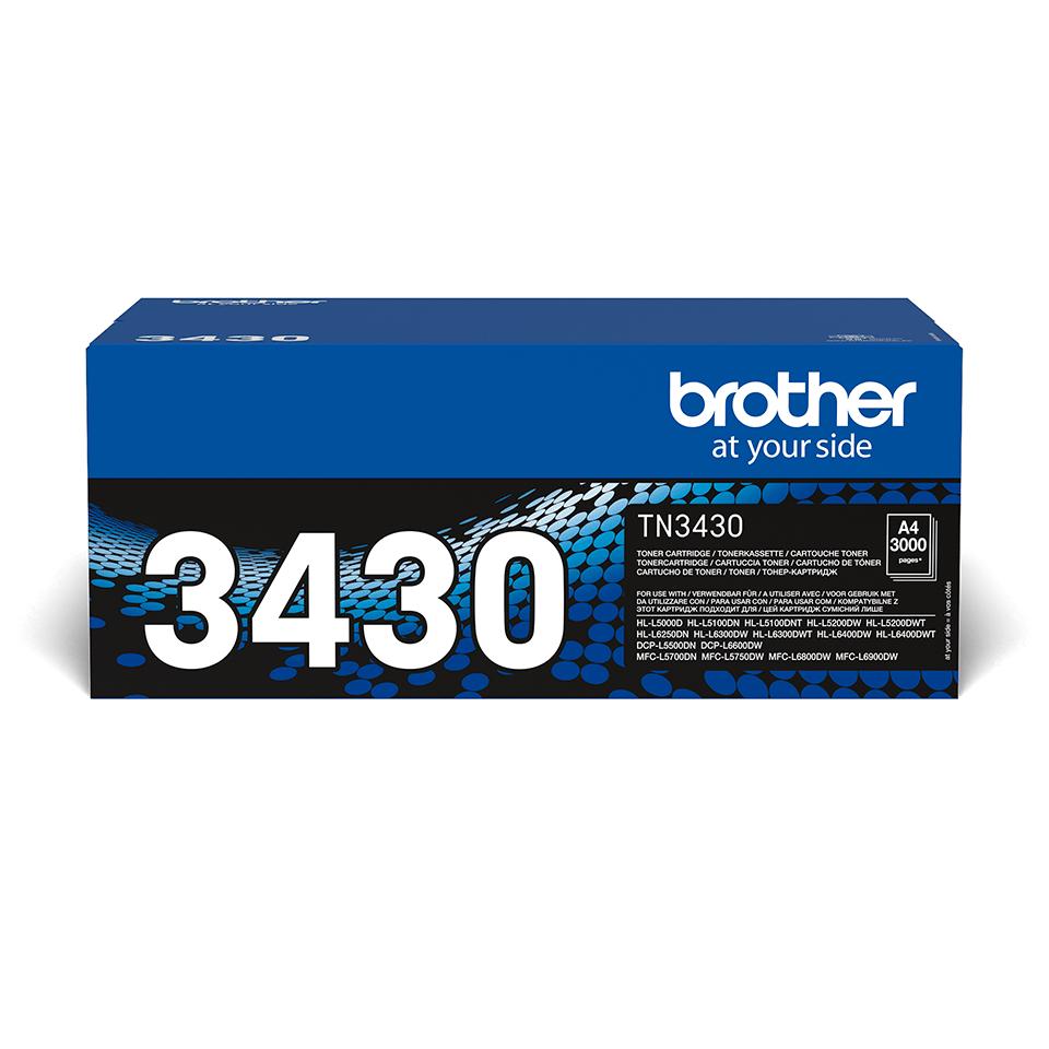 Eredeti Brother TN3430 nagytöltetű festékkazetta - fekete
