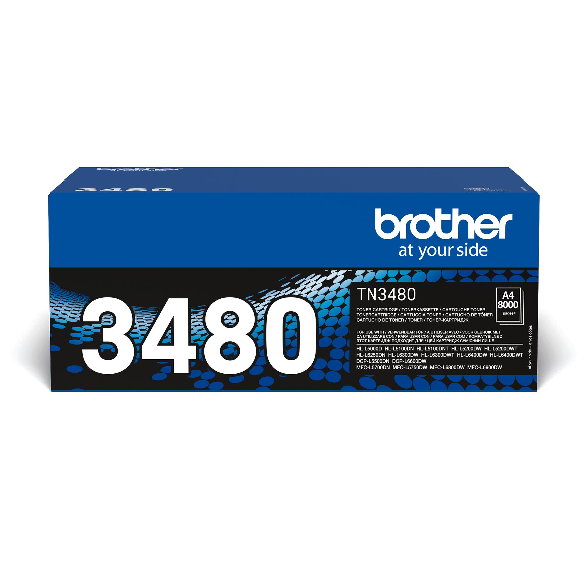 Eredeti Brother TN3480 festékkazetta - fekete