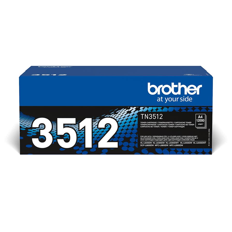Eredeti Brother nagytöltetű TN-3512 toner – Fekete