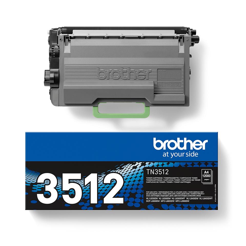 Eredeti Brother nagytöltetű TN-3512 toner – Fekete 2