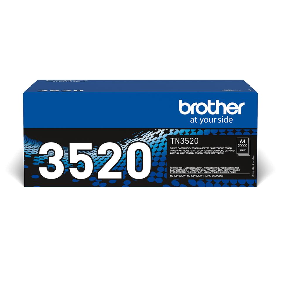 Eredeti Brother TN-3520 ultra nagytöltetű tonerkazetta – Fekete