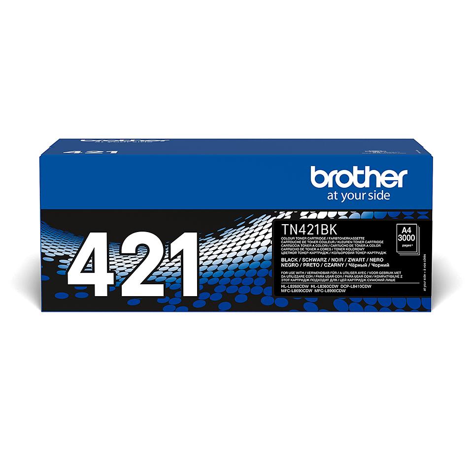 Eredeti Brother TN421BK festékkazetta - fekete 2