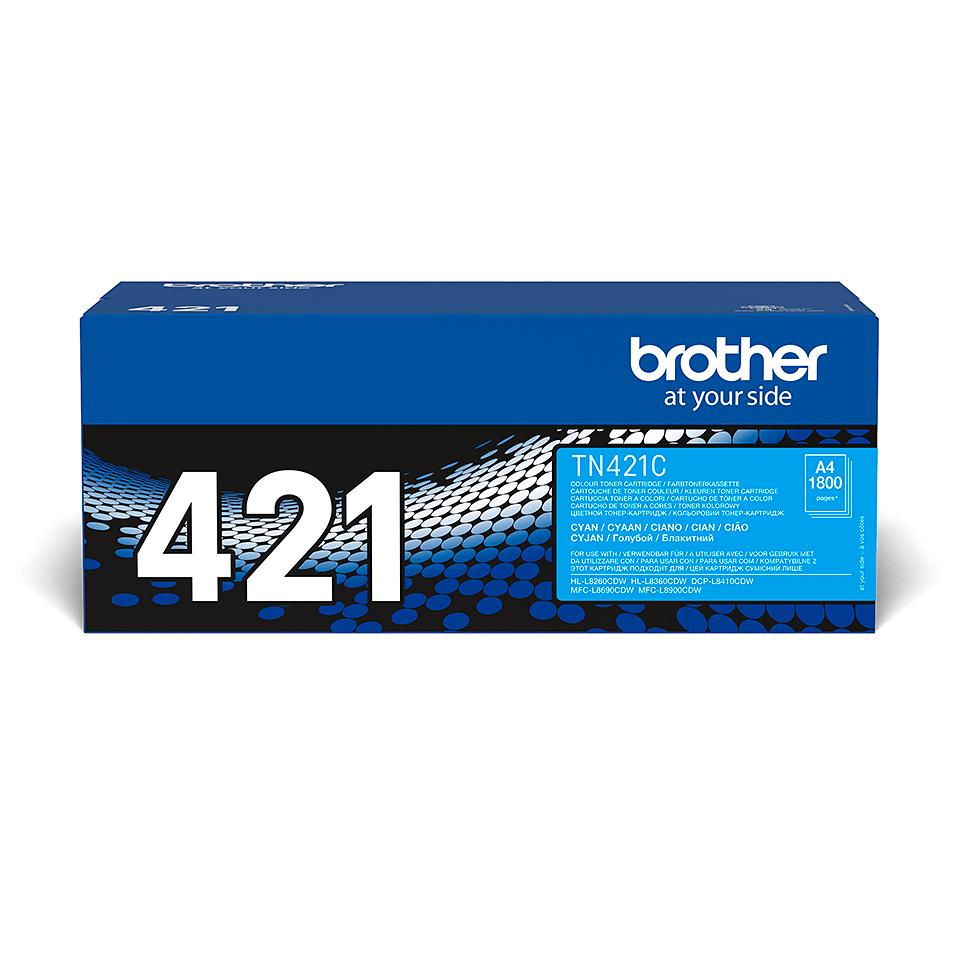 Eredeti Brother TN421C festékkazetta - ciánkék 2