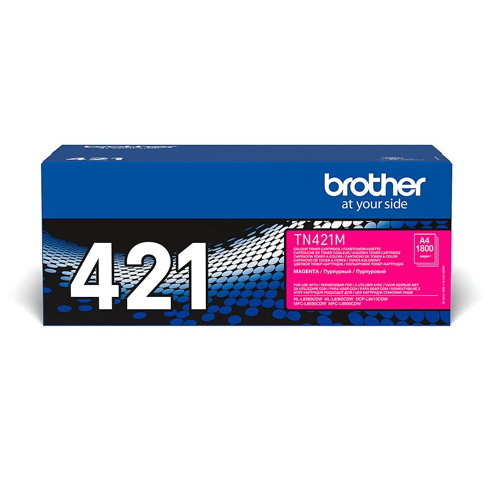 Eredeti Brother TN421M festékkazetta - magenta