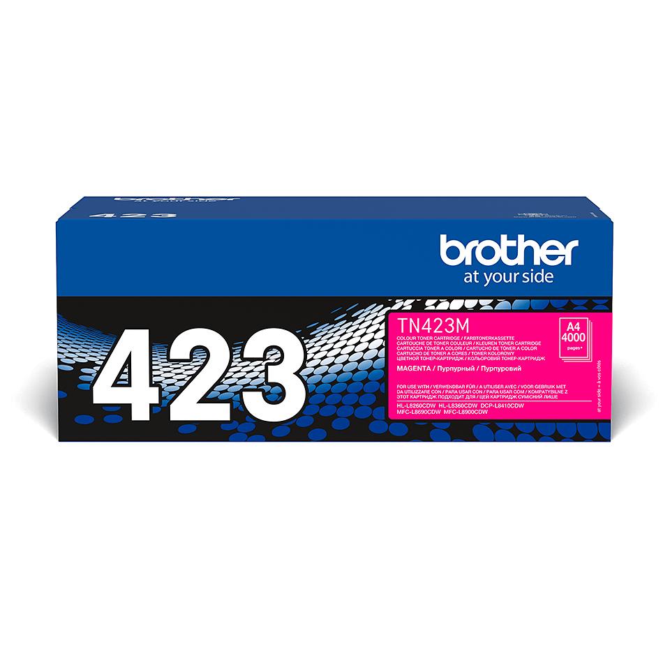 Eredeti Brother TN423M festékkazetta - magenta.