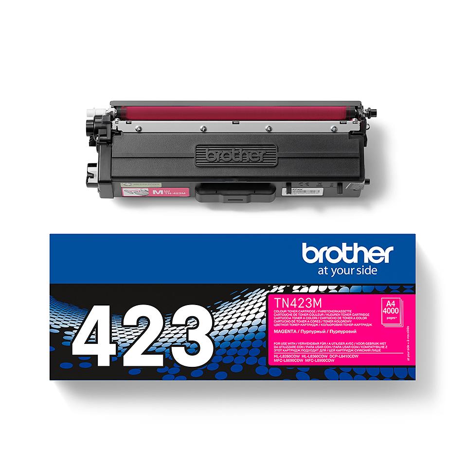 Eredeti Brother TN423M festékkazetta - magenta. 2