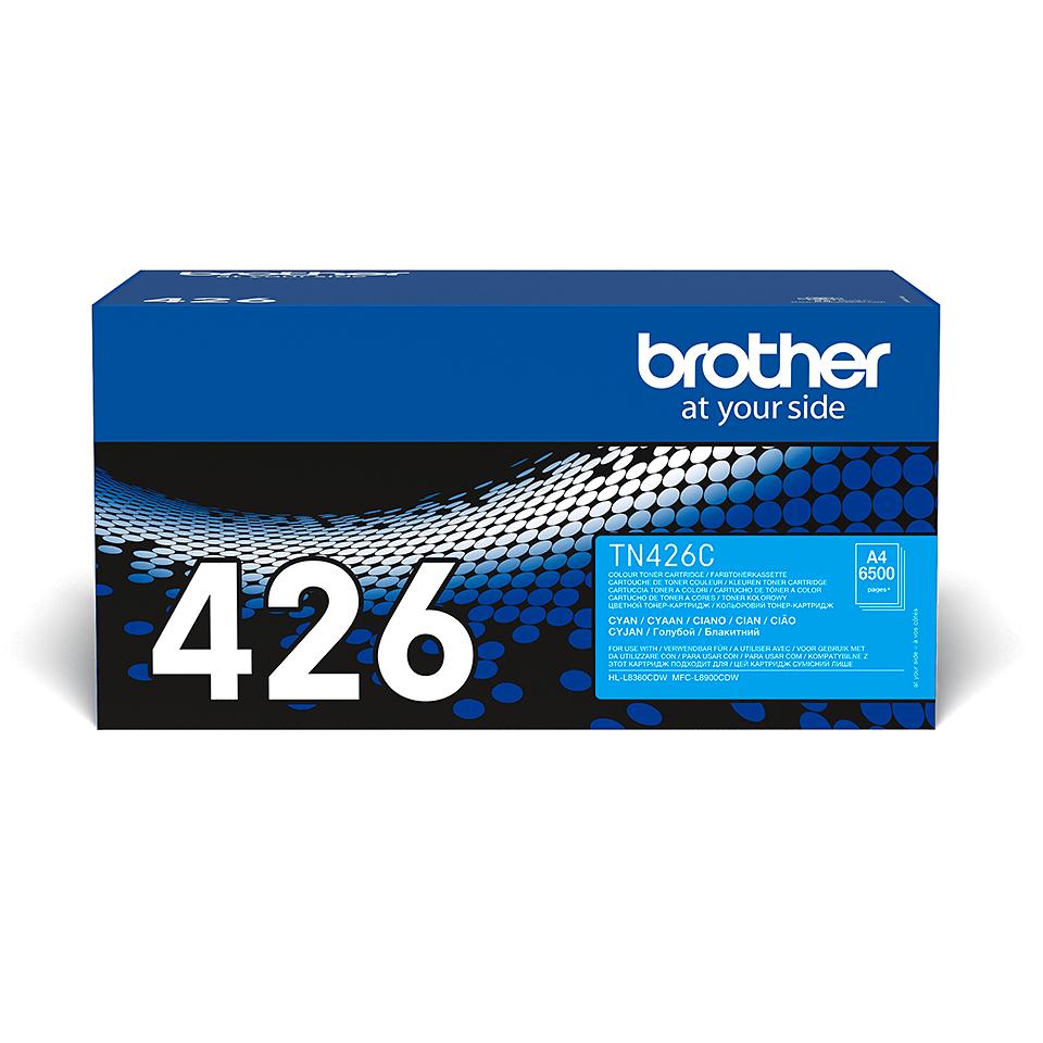 Eredeti Brother TN426C festékkazetta - ciánkék 2